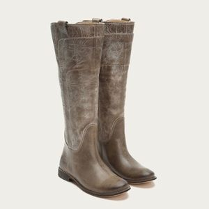 Frye Paige Tall Riding Pull On Leather Boots